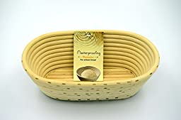 2 Pcs Masterproofing Oval Banneton Proofing Basket(500g Dough)