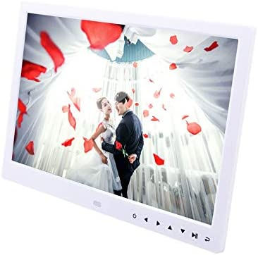 RONSHIN Digital Picture Frame 13inch LED Screen HD Resolution Display Support Auto Play with Infrared Remote Control White US Plug