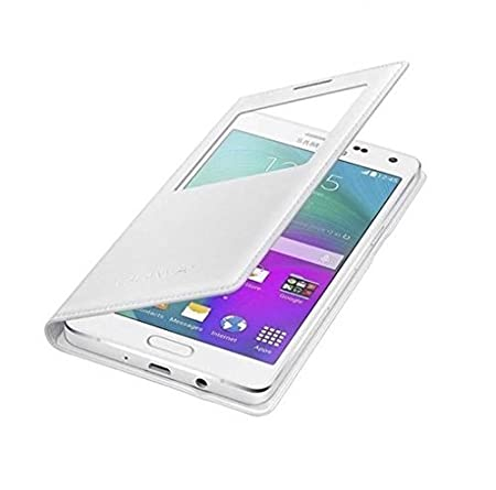 Leather Look flip Cover for Samsung Galaxy ON5 PRO in White by Brynn