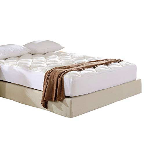 Cheer Collection Ultra Plush Eco-Friendly Hypoallergenic Bamboo Fitted Mattress Topper - California King