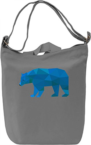 Blue Origami Bear Borsa Giornaliera Canvas Canvas Day Bag  100% Premium Cotton Canvas  DTG Printing 