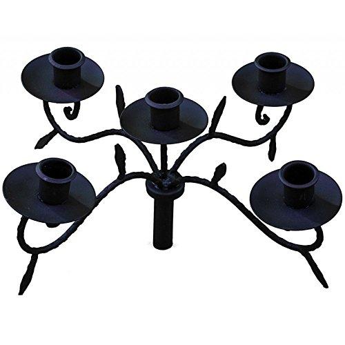 Portacandela a rami per bottiglie o candelabro da tavolo in ferro anticato marron-noir 15 x 31 x 31 cm L' Héritier Du Temps