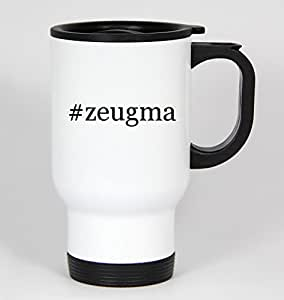 #zeugma - Funny Hashtag 14oz White Travel Mug