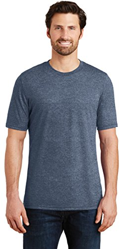 District Made DM130 Mens Perfect Tri Crew Tee, XL, Navy Frost