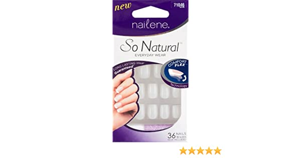 Amazon.com: Nailene So Natural 36 Acrylic Nail Set: Health & Personal Care