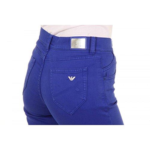Emporio Armani Dames Jeans Agj15 Bw 88 Bleu