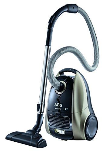 AEG Vampyr Equipt AEQ 12 Bodenstaubsauger EEK F (1400 Watt, 3,5 L Staubbeutelvolumen, Microfilter-System) schwarz/anthrazit metallic