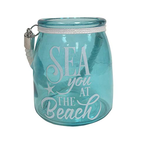 Fancy That Glass Jar Sea You at The Beach with Handle