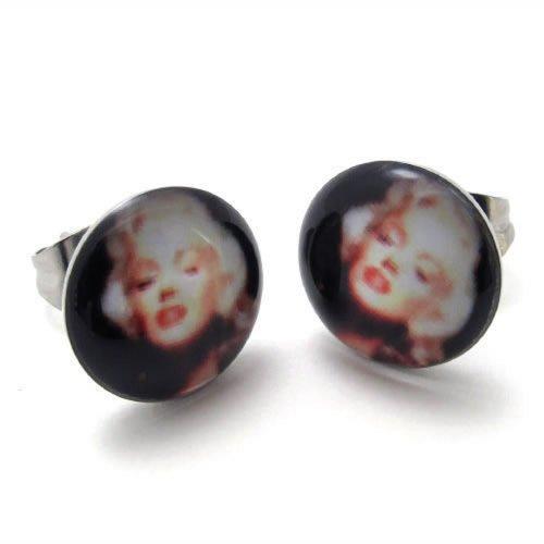 KONOV Stainless Marilyn Monroe Earrings