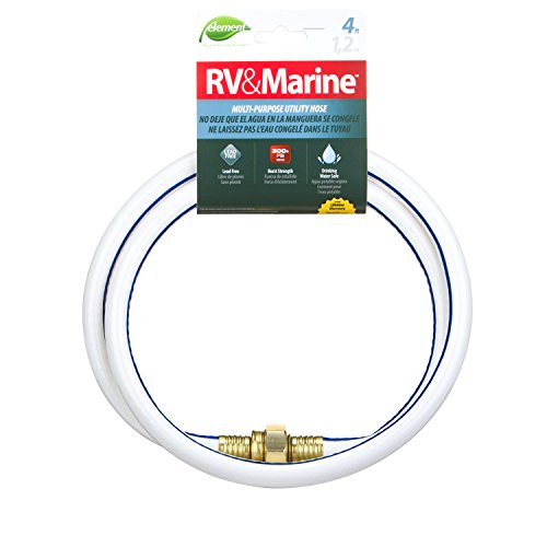 RV & Marine 4 ft Utility Hose, Lead-Free and Drinking Water - Potable Drinking Water
