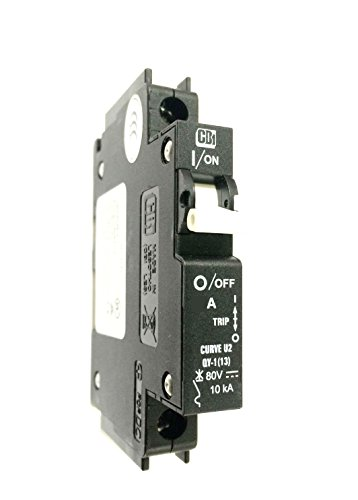 SHAMROCK CONTROLS QY18U220B0 Circuit Breaker, QY Series, UL489A, Curve U2, DC Voltage, 1 Pole, 20 amp