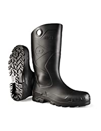 Dunlop 8677610 Chesapeake Boots with Safety Steel Toe, Waterproof PVC, Lightweight and Durable Protective Footwear, Size 10