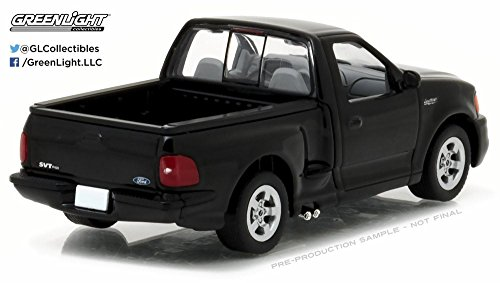 1999 Ford F-150 SVT Lightning Pickup Truck, Black - Greenlight 86085 - 1/43 Scale Diecast Model Toy Car