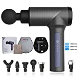SNODE Massage Gun, Handheld Body Massager, Deep Tissue&Muscle Massager with 6 Heads Massager, Pure Wave Fascia Gun to Massage Different Parts of The Body Through The Most Comfortable Percussion