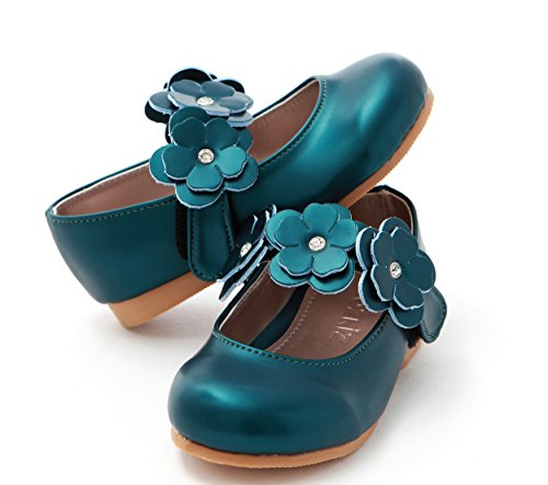 Girls Toddler Ozkiz Girls Flat oz Shoes Mary S269 Jane Bijou Flats Dress Little green a5xfB1