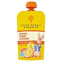 Peter Rabbit Organics Bocaditos de mango, plátano y naranja, 4 onzas (paquete de 10)