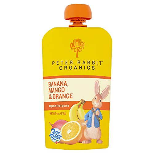 Peter Rabbit Organics Banana, Mango and Orange Puree, 4-Ounce (Pack of 10)
