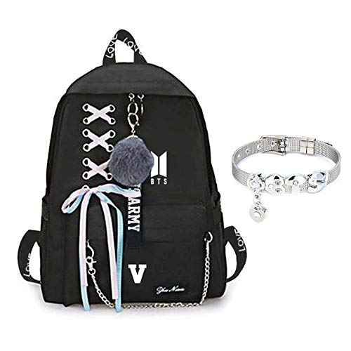 Youyouchard BTS Bangtan Boys Love Yourself Answer BTS Backpack for Women  Girls Canvas Backpack for Laptop 7ecead7790ede