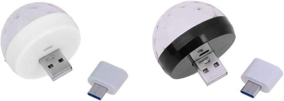 B Baosity 2 Pack USB Mini Disco Light Ball, Lámpara De Decoración ...
