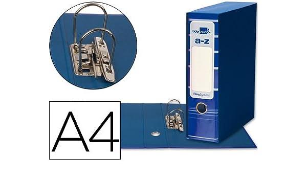5 ARCHIVADORES DE PALANCA LIDERPAPEL A4 FILING SYSTEM AZUL CON CAJA: Amazon.es: Oficina y papelería