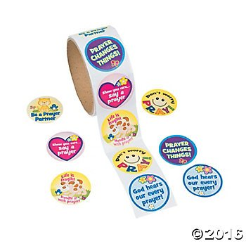 2-Rolls-PRAYER-Religious-STICKERS-200-Total-PRAY-Inspirational-VACATION-BIBLE-School-RELIGIOUS-Education-VBS-TEACHER-Classroom