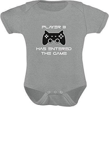 5972c820d TeeStars - Player 3 Has Entered The Game - Gift Third Child Gamer Geek  Gamer Baby