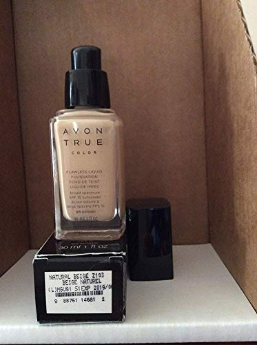 - Avon TRUE Color Ideal Flawless Liquid Foundation broad spectrum SPF 15 sunscreen NATURAL BEIGE