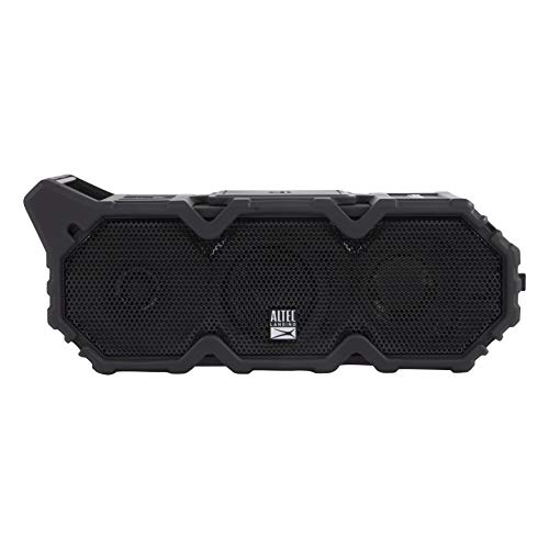 Altec Lansing IMW790-BLKC Lifejacket XL Jolt Heavy Duty Rugged and Waterproof Portable Bluetooth Speaker with Qi Wireless Charging, 20 Hours of Battery Life, 100FT Wireless Range and Voice Assistant