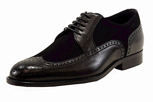 Hugo Boss Mens Branno Scarpe Oxford Moda In Pelle Nera