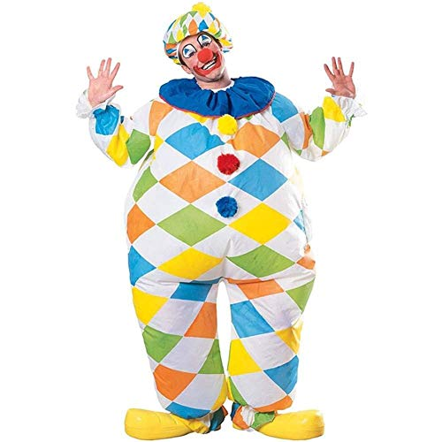 MJY Inflatable Clown Adult Costume Funny Fat Suit Dress Blow Up Costume Party Comic-Con Christmas Costume (Clown Inflatable)