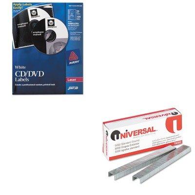 Dvd Label Maker Kit (KITNSN5549538UNV79000 - Value Kit - NIB - NISH 753000NIB0688 Avery CD/DVD Label Maker Kit (NSN5549538) and Universal Standard Chisel Point 210 Strip Count Staples (UNV79000))