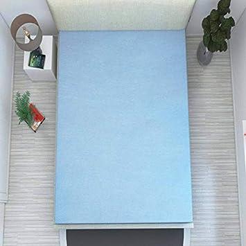 HomeStore-YEP Synthetic Waterproof Single Bed Size Mattress Protector (35x74x5inch, Blue)