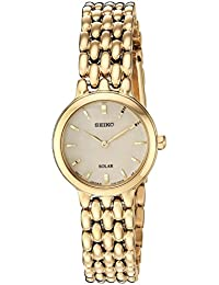 Womens Ladies Dress Quartz Stainless Steel Casual Watch, Color:Gold-Toned