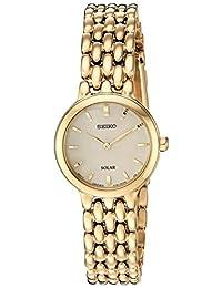 """Seiko """"Ladies Dress"""" - Reloj casual de cuarzo para mujer, de acero inoxidable, color dorado (modelo: SUP352)"""