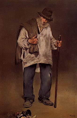 Toperfect 50€-2000€ Handgefertigte Ölgemälde - Die verbrannte Eduard Manet Gemälde auf Leinwand Kunst Werk Ölmalerei - Malerei Maße17  12 x 16 Zoll