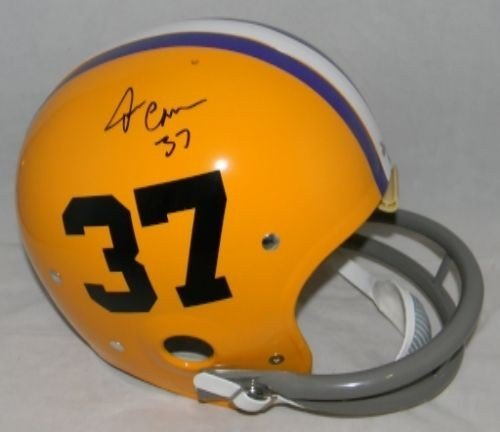 Rk Helmet Throwback (Tommy Casanova Hand Signed Lsu Tigers Full Size Throwback Rk Helmet - Certified Authentic Autograph)