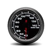 ZJP-Car Instruments Medidor de Temperatura del medidor de Temperatura del Agua del automóvil de 52MM Medidor de Temperatura del Agua del automóvil de Carcasa Negra 40~140 ° C Dispositivo Sensor