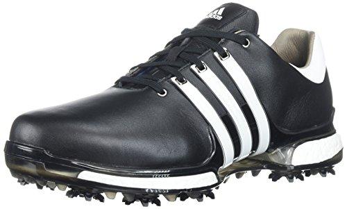 360 Golf - adidas Men's Tour 360 2.0 Golf Shoe, Core Black/White, 13 Wide US