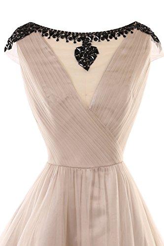 Robe De Demoiselle D'honneur Invisible Perles V Bess Femmes De Mariée L'or Courte Robe De Bal De Mariage