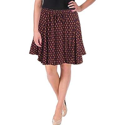 Scotch & Soda Womens Printed Flounce Mini Skirt