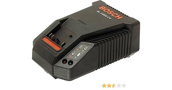 Bosch AL 1860 CV - Cargador rápido de múltiples voltios para baterías, Negro