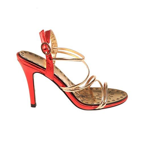 La Modeuse - Sandalias de Vestir Mujer Rojo - rojo