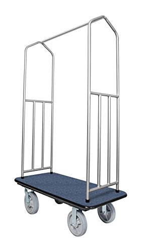 Chrome Bellman's Cart with Blue Deck by Evania Luigi Brigitte