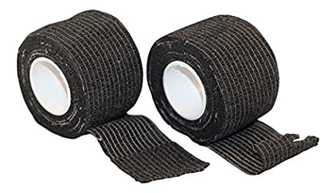 Grip Tape for Sports & Outdoors Including Hunting, Hockey, and Baseball by TapeOwl(2 Pack) (Black) - Bow Tape