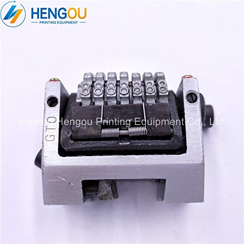 Printer Parts 2 PCS 22.3'' 7 Digits Numbering Machine for Yoton GTO, Horizontal Forward Without Spring, Last Three bits can Adjustable by Yoton (Image #3)