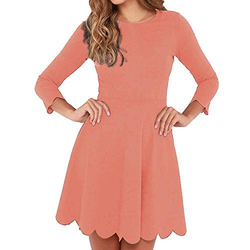 orange skater dress - 9