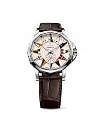 Corum Men's Admirals Cup Legend 42 42mm Brown Alligator Leather Band Automatic Watch 395.101.20/OF02 AA12