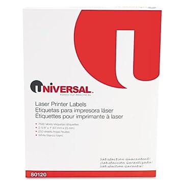 Amazon.com : UNV80120 - Universal Laser Printer Permanent Labels ...
