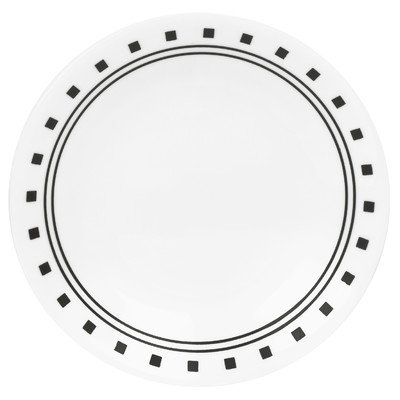 corelle black and white dishes - 7