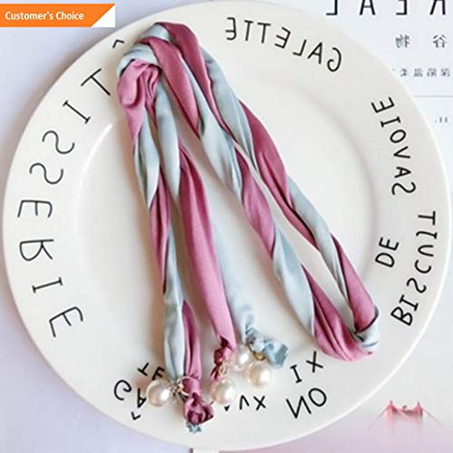 Hebel Popular Woman Pearl Ribbon Elegance Headband Wrap Turban Twisted Knotted   Model ARTFCL - 834  